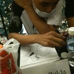 Jomar Bulda with IronMan sketch