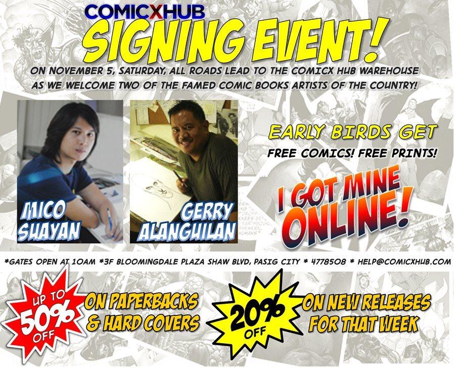 Comicx Hub Signing Event