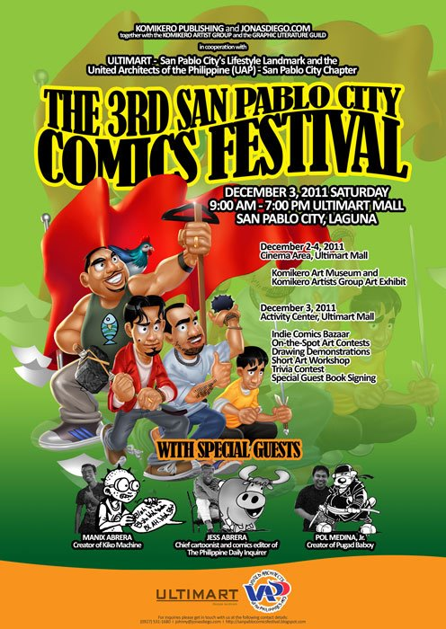 The 3rd San Pablo City Comics Festival Philippines