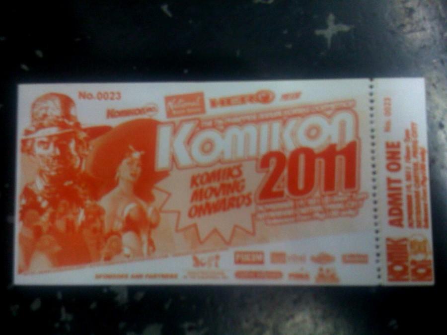 Komikon 2011 Tickets