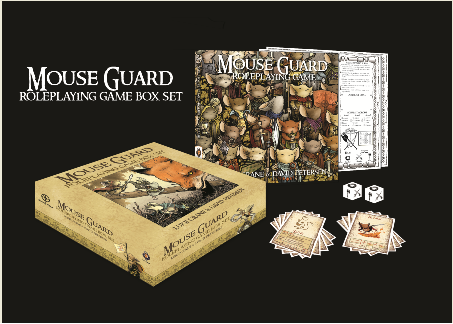 'MOUSE GUARD ROLEPLAYING GAME BOX SET' SELLS OUT