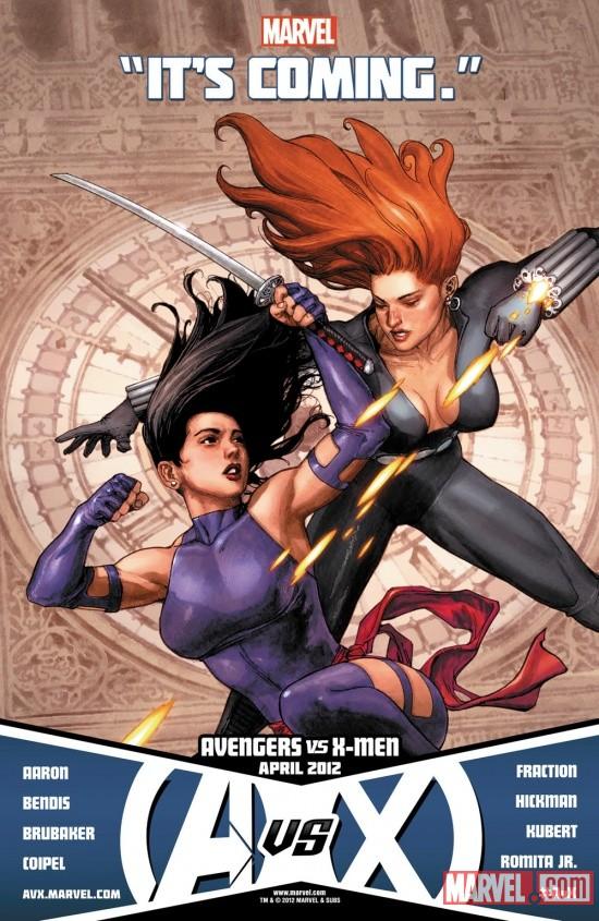Avengers Vs X-Men Black Widow and Psylocke