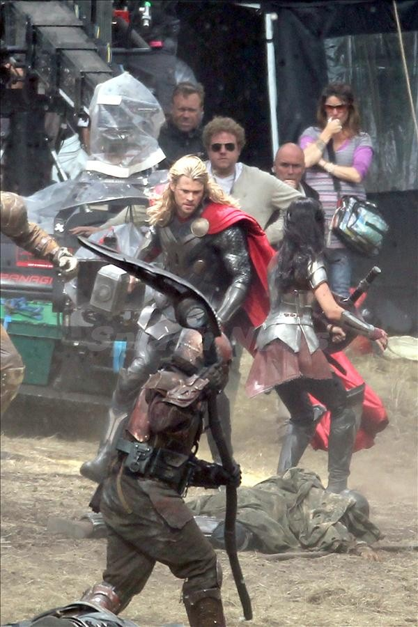 "First look at Chris Hemsworth as ""Thor"" on the set of the action adventure movie, Surrey, UK"