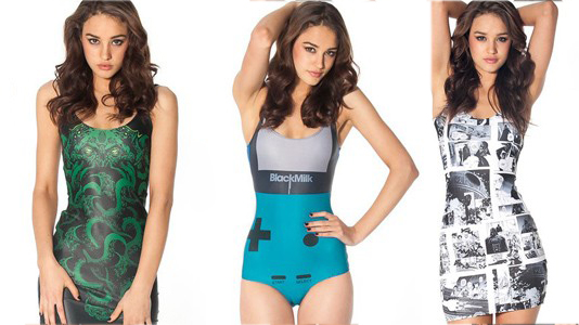e8fa789398 Black Milk Releases New 'Star Wars' Apparel, Cthulhu Dresses ..and Gameboy  Swimsuits!