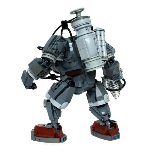 Bioshock Big Daddy Lego Sculpture