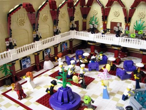 Fifth Element Scene Recreation Lego Sculpture
