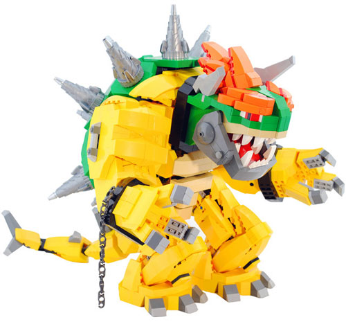 A Giant Bowser Lego