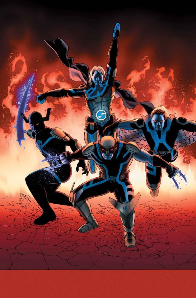 Uncanny-Avengers-10-cover-The-Sentry-Daken-Grim-Reaper-Banshee