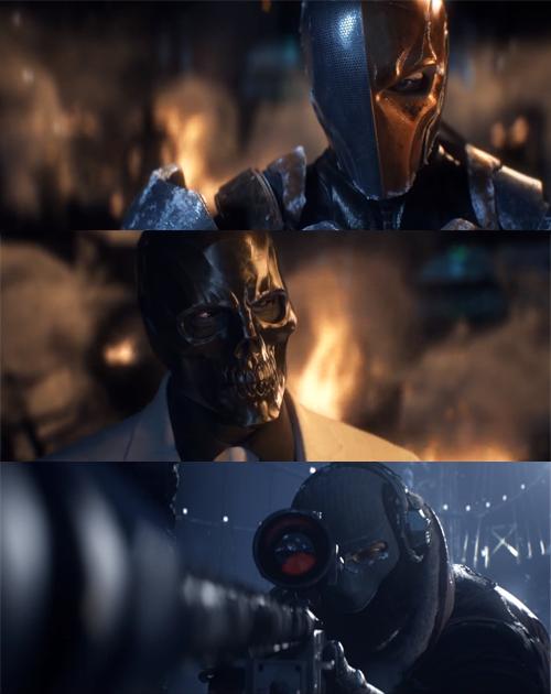Batman Arkham Origins Villains Deathstroke Black Mask Deadshot