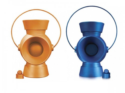 Blue and Orange Lantern and Ring