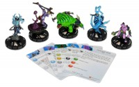 Heroclix: DOTA 2 The Dire Starter Set  would include your favorite DOTA 2 characters Lich, Witch Doctor, Tidehunter, Razor and Faceless Void.