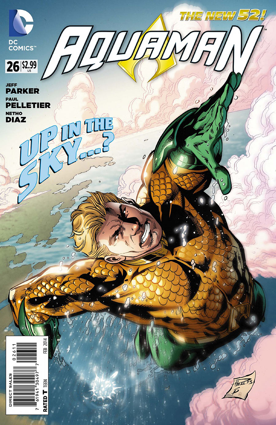 Up in the sky! It's a bird! It's a plane! No, it's a flying fish-man! (Sorry, Aquaman fans)