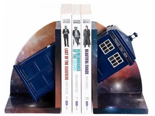 Resin TARDIS Bookends