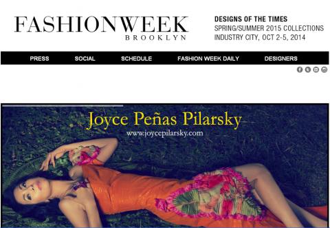 Von's first featured work for Fashion Week Brooklyn.