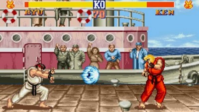 Old school: Classic Street Fighter II can now be played in The Internet Arcade