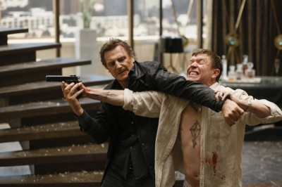 liam neeson and sam spruell in TAKEN 3