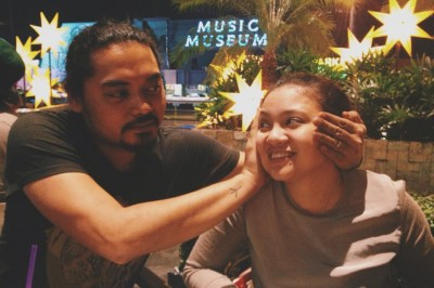 Antoinette Jadaone with her partner in crime, Dan Villegas, director of English Only, Please