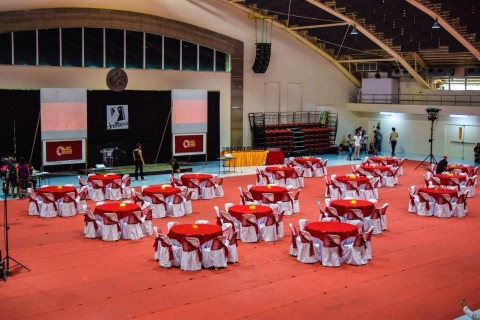 The setup for the awards night. Photo by CineMapua.