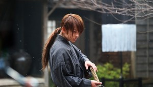 Still from Rurouni Kenshin: Kyoto Inferno. featuring Takeru Sato as Kenshin Himura.