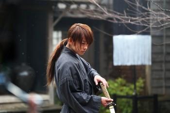 Still from Rurouni Kenshin: Kyoto Inferno. featuring Takeru Sato as Kenshin Himura.