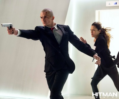 rupert friend and hannah ware in HITMAN AGENT 47