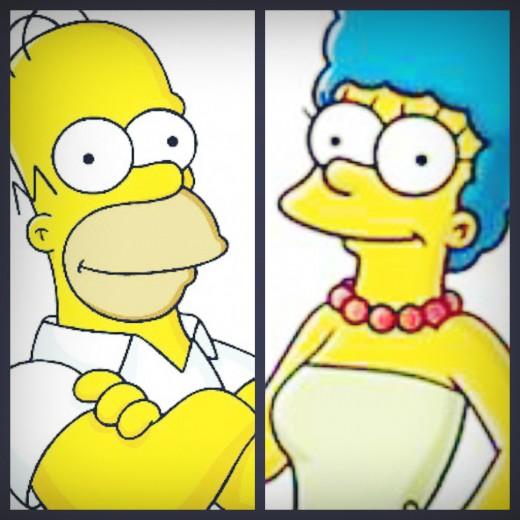 Homer-Marge-Simpson-Split
