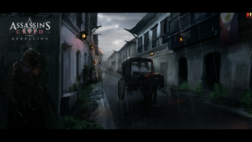 """A fan made art depicting Assassin's Creed set in the Philippines during the Spanish Occupation.  titled """"Assassin's Creed Revolution""""."""