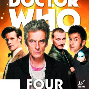 DOCTOR WHO: FOUR DOCTORS SPECIAL FCBD 2016 EDITION TITAN COMICS(W) Nick Abadzis & Various (A) Eleonora Carlini & VariousJump on board the TARDIS with FOUR all-new short tales of the Ninth, Tenth, Eleventh and Twelfth Doctors! Whether you're a whiz with a Sonic Screwdriver or completely new to Who, this is the perfect Free Comic Book Day adventure for SF fans of all ages! Written and illustrated by the creative teams of the regular comics, this is the ideal place to start reading!32pgs, FC