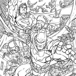 BATMAN/SUPERMAN #28 by Freddie Williams II