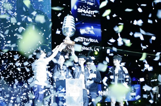 ESL One Manila champion Wings Gaming celebrates its victory