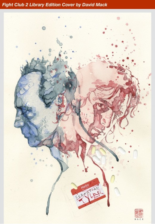 Fight Club 2 Library Edition, Cover by David Mack