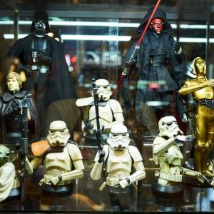 Some Star Wars figures.