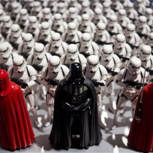 The Imperial Army with Lord Vader. *cue imperial march soundtrack*
