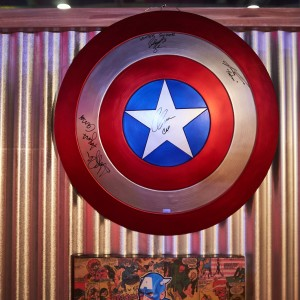 Captain America's signed shield.