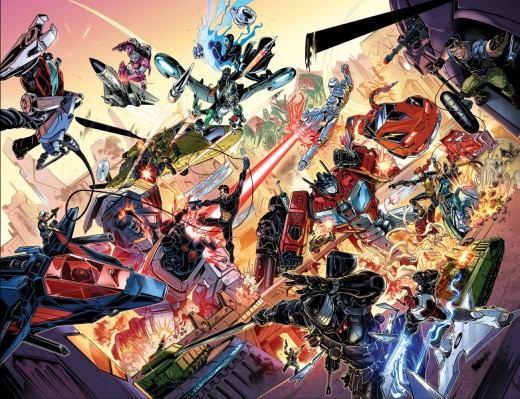 REVOLUTION is coming! TRANSFORMERS, ROM, MICRONAUTS, G.I. JOE, ACTION MAN, and M.A.S.K.: Mobile Armored Strike Kommand will all cross paths in an epic 5-part bi-weekly comic book series this September!