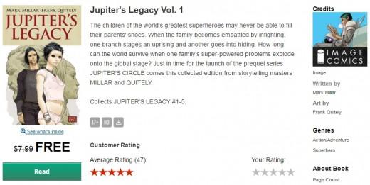 Jupiter's Legacy Vol 1 free 01