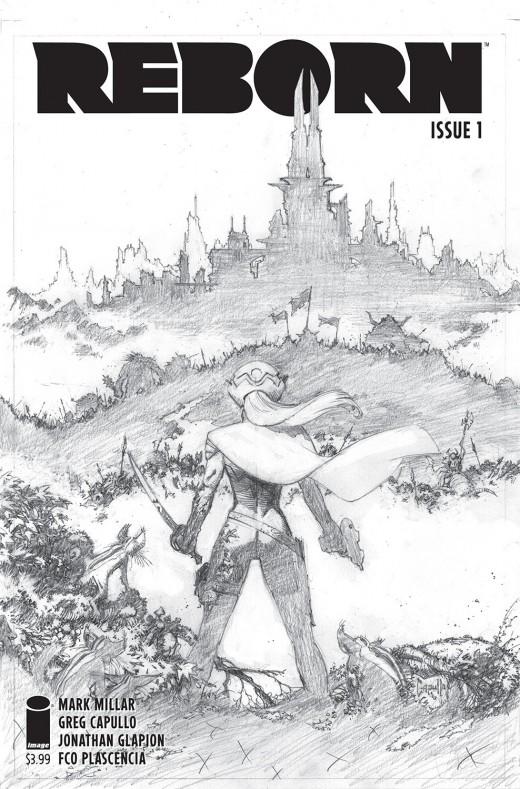 REBORN #1 Cover C (incentive) Capullo Sketch cover