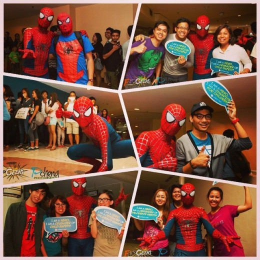 The FlipGeeks team along with fans hanging out with Spider-Dan during one of our Flip The Switch screenings. (c) The Best Thing in Life are Freaks