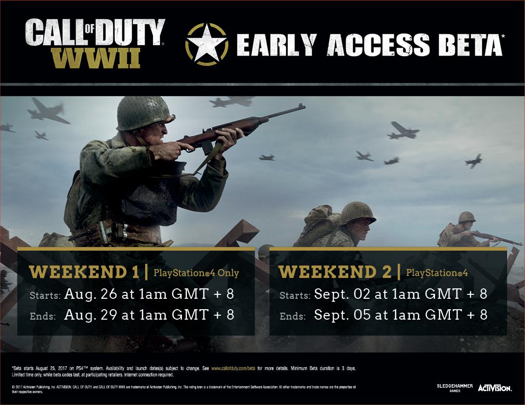 COD WWII Open Beta
