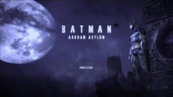 Batman Arkham Asylum Title Screen