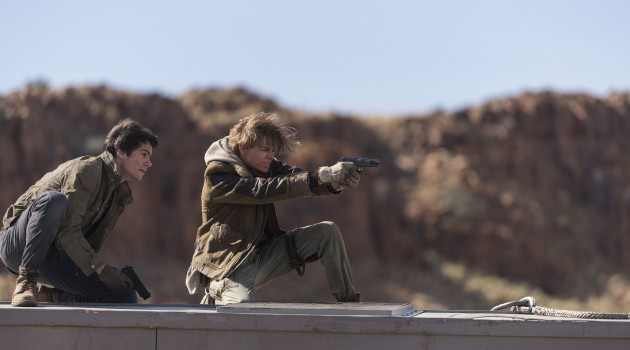 Dylan O'Brien & Thomas Brodie Sangster in MAZE RUNNER THE DEATH CURE