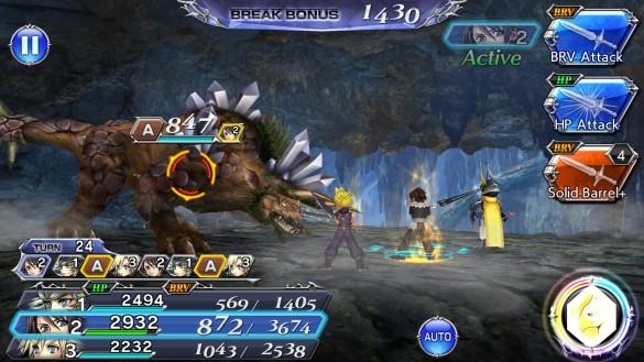 DFFOO Gaia Behemoth Battle