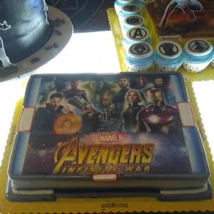 Infinity War Portrait Cake