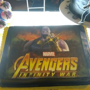 Thanos Portrait Cake