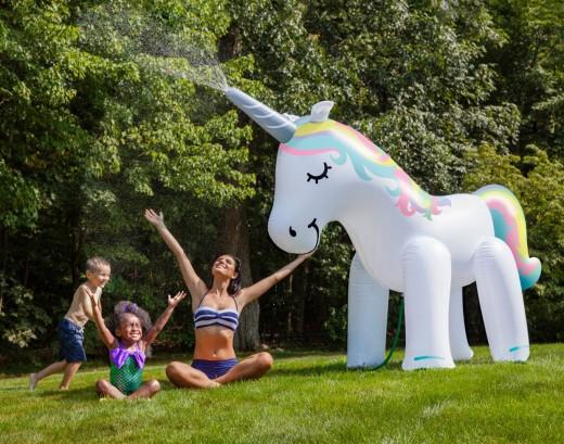 Giant Unicorn Yard Sprinkler