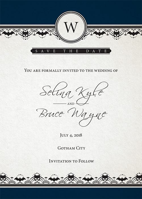 Batman Wedding Invite