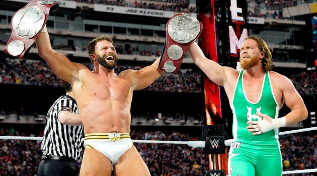 Hawkins and Ryder WrestleMania 35
