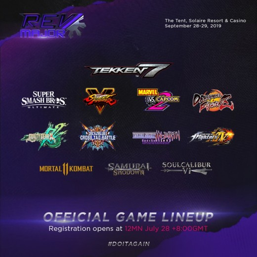 REV Major Official Game List